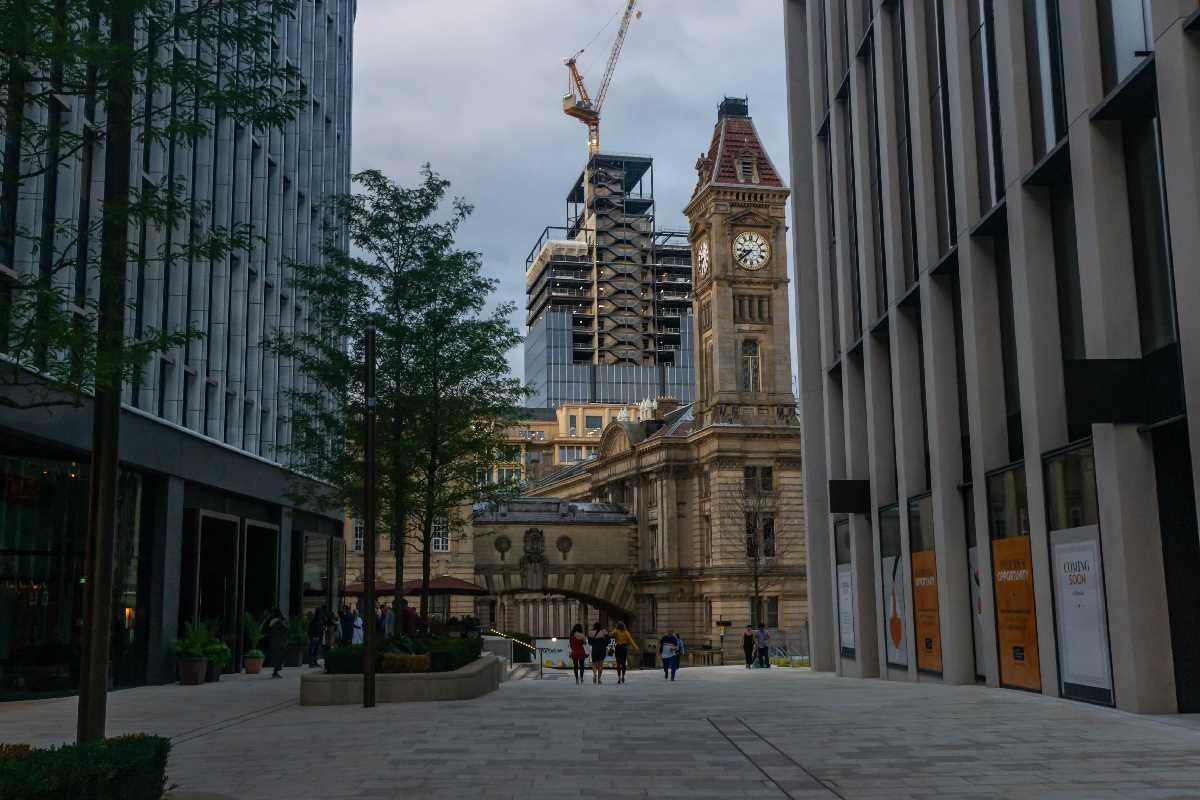Construction of 103 Colmore Row - July and August 2020
