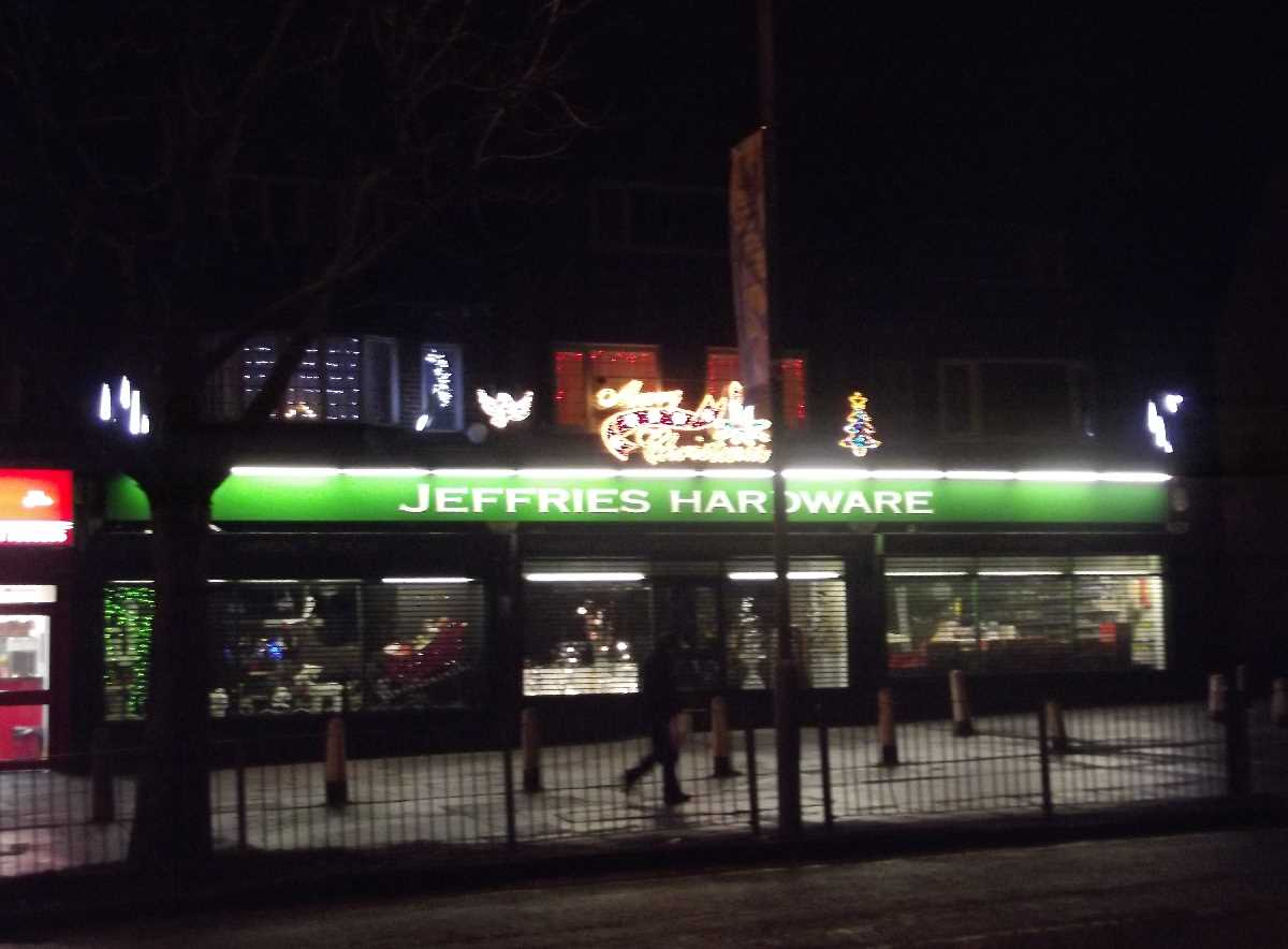 Jeffries Hardware - Shirley Road, Acocks Green - Xmas lights