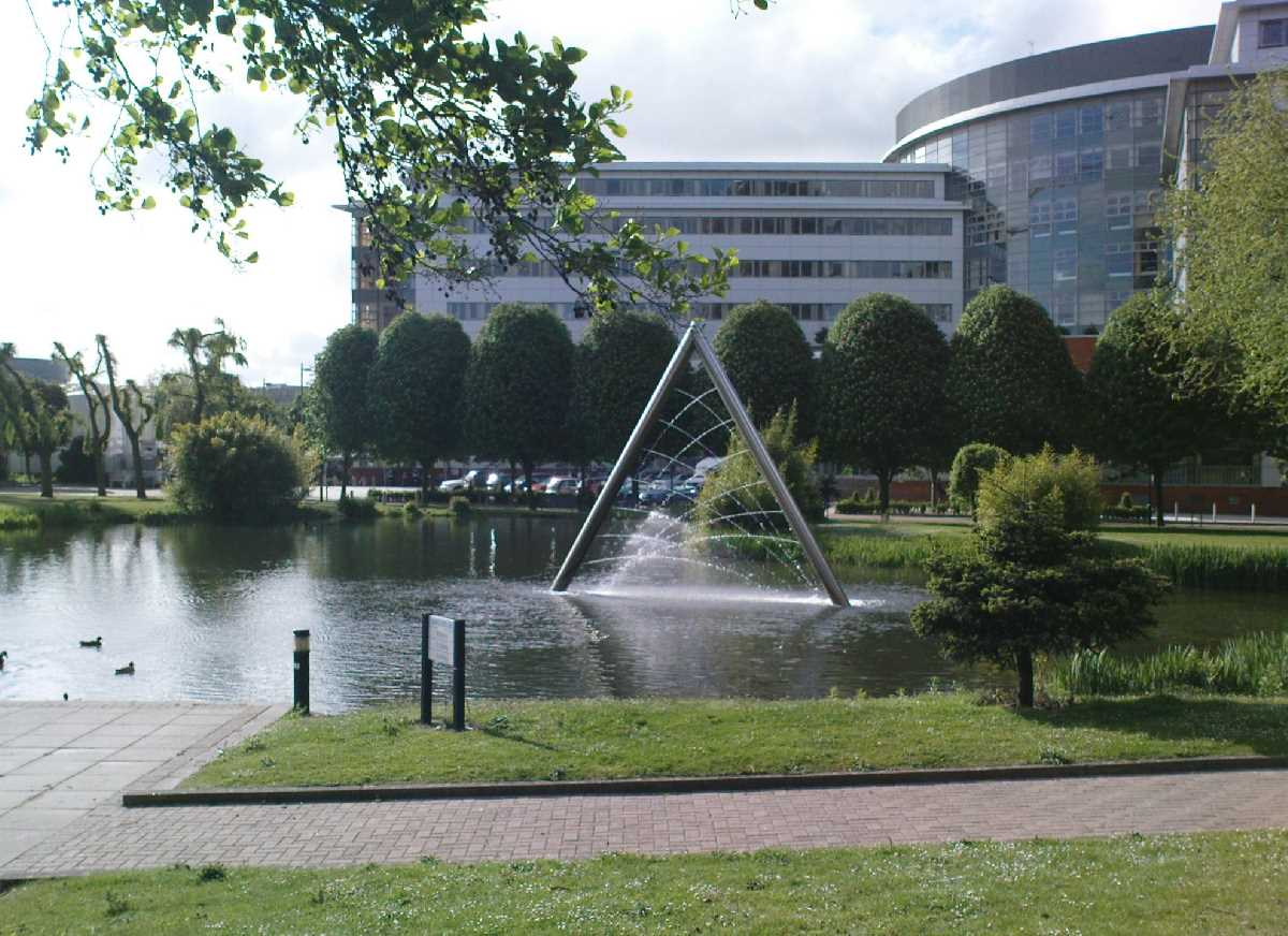 Aston University fountain