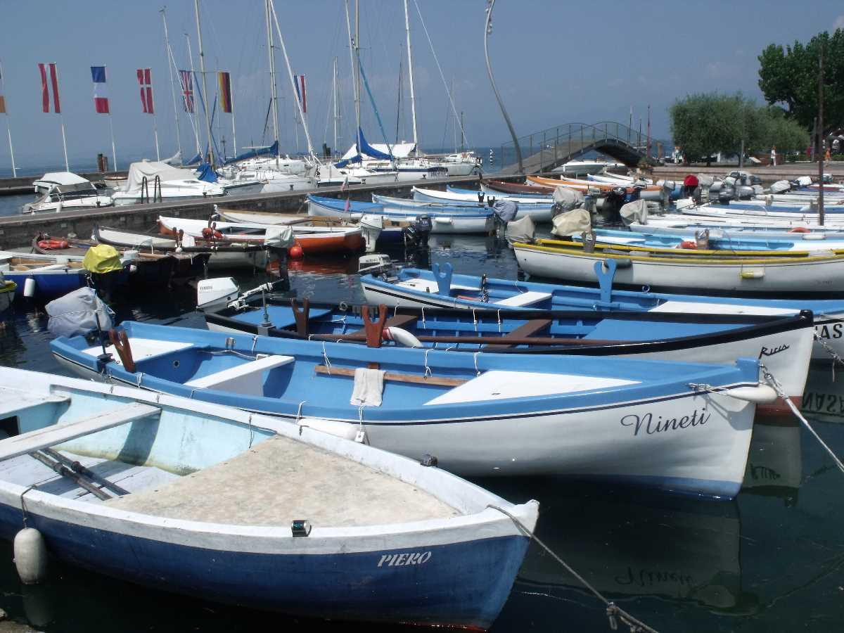 Boats at Bardolino on Lake Garda