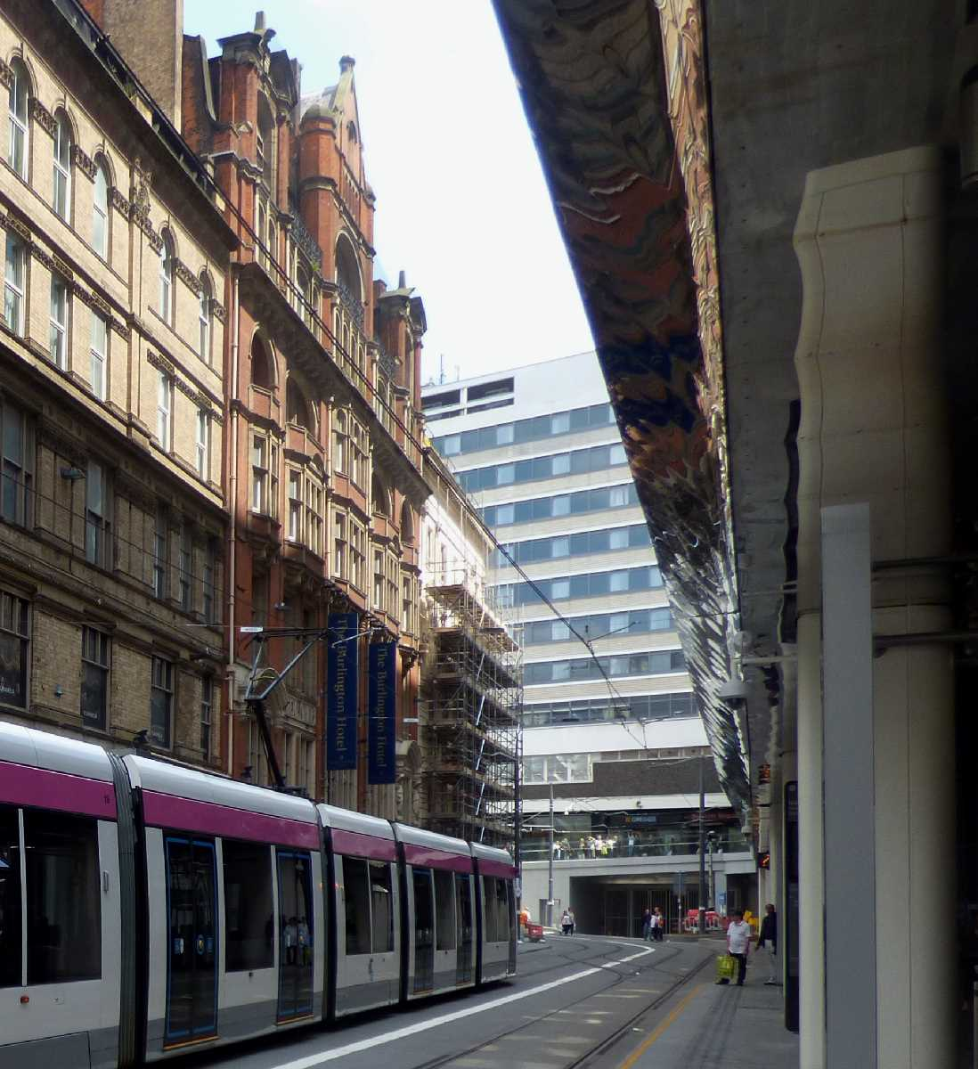 Burlington Hotel and Grand Central Tram Stop