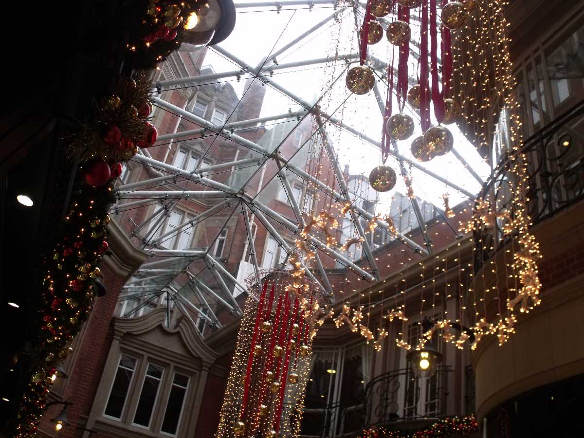 Burlington Arcade Christmas lights