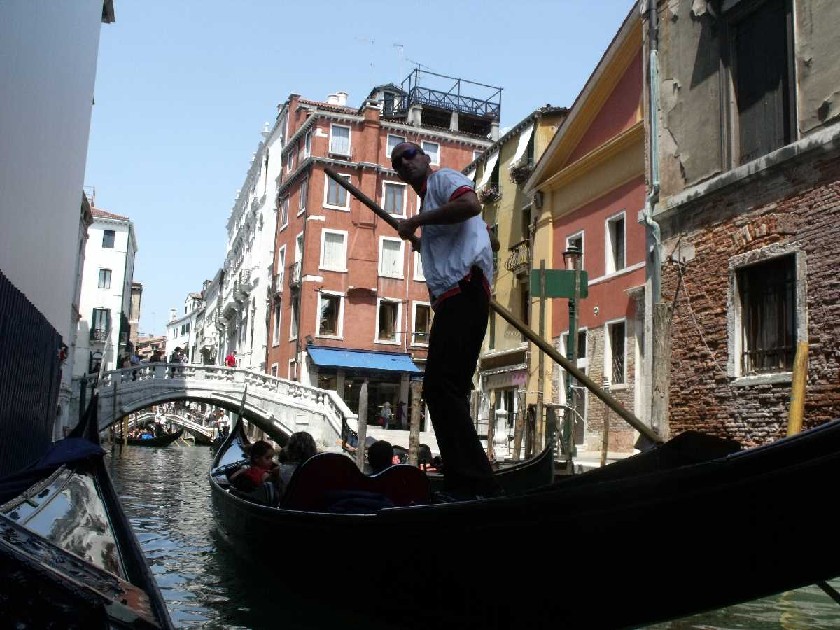 Gondola ride on the canals of Venice