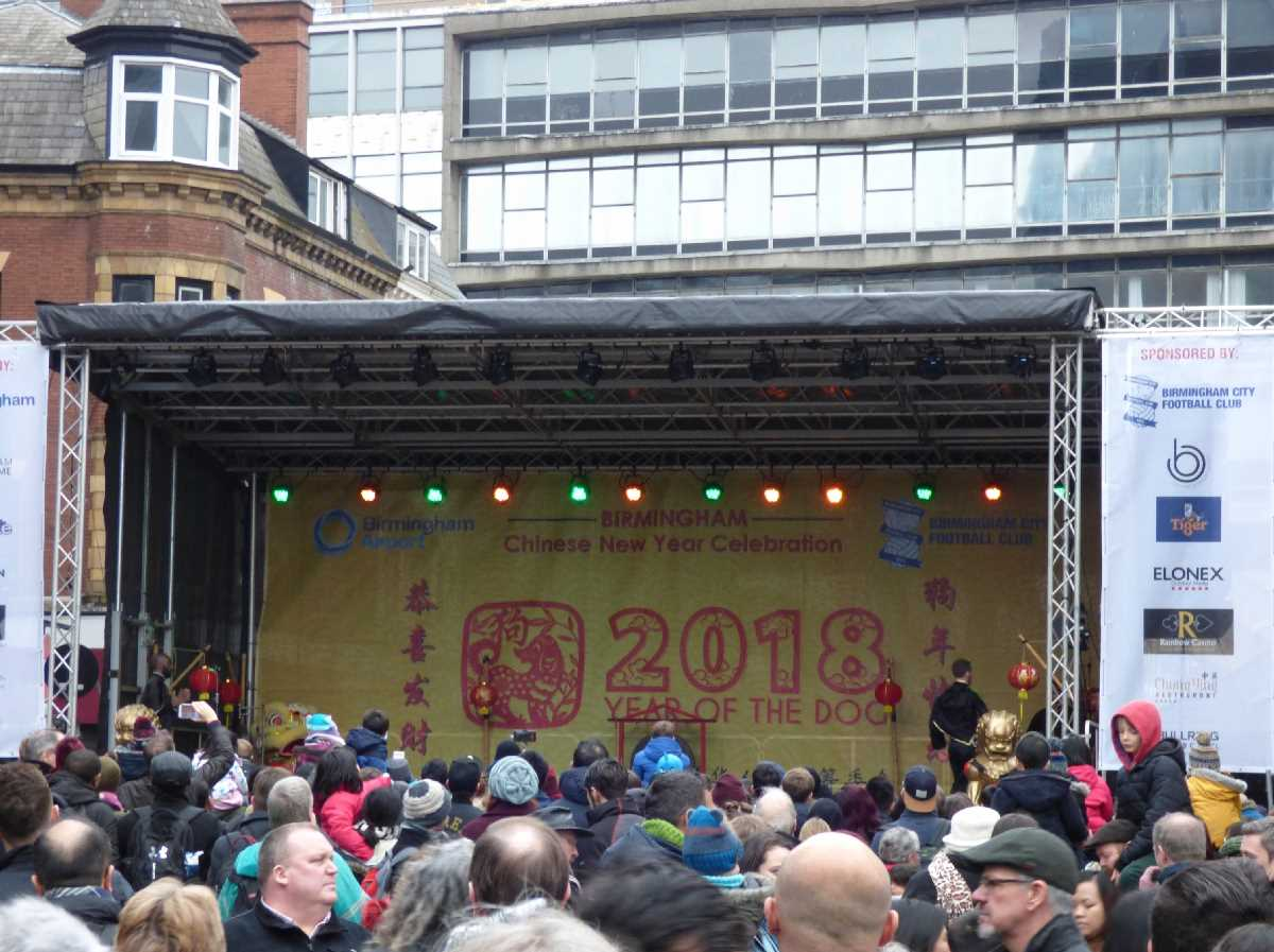 Chinese New Year 2018 Hurst Street stage