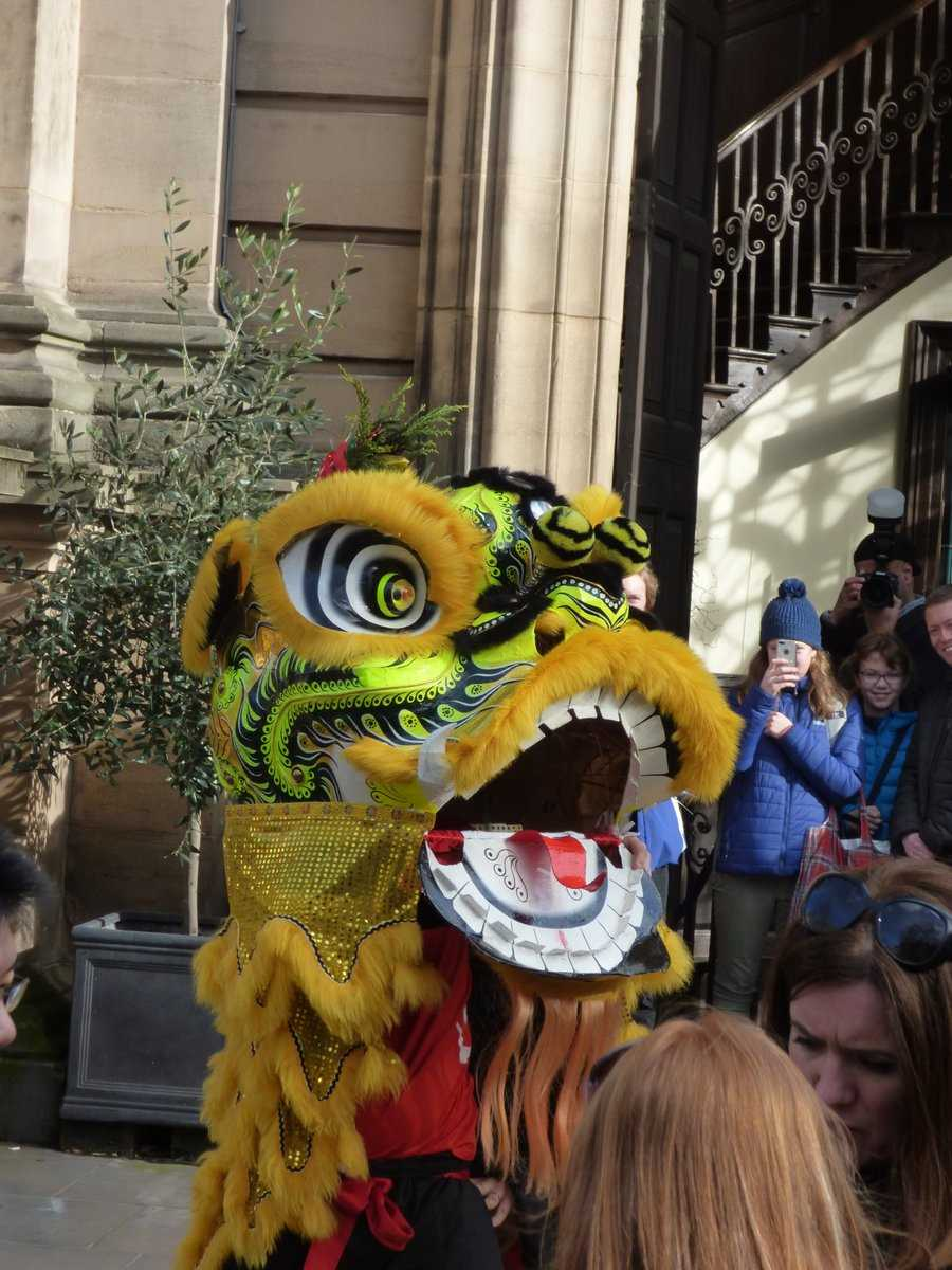 Chinese New Year 2018 yellow dancing dragon St Philip's Cathedral