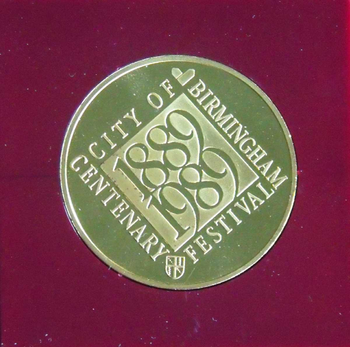 City of Birmingham Centenary 1889 1989 souvenir medallion