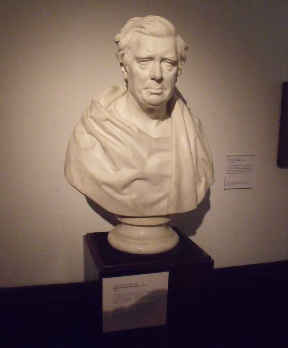 David Cox bust at BM & AG