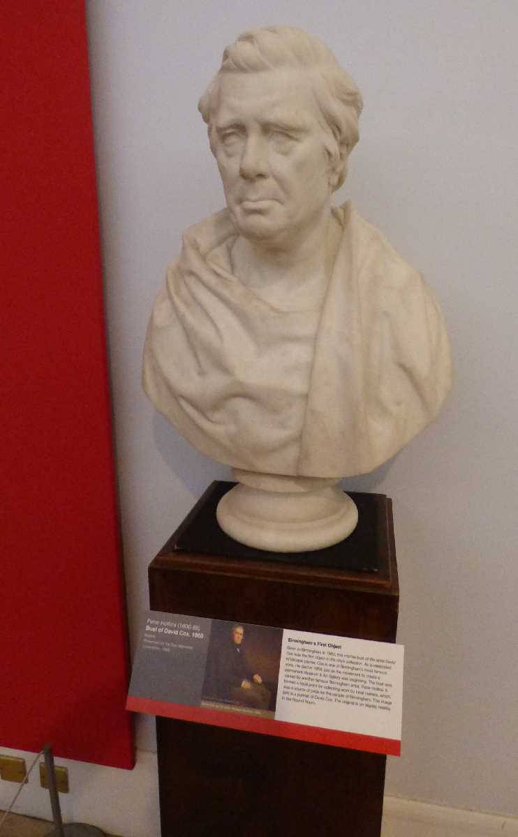 David Cox bust at BM & AG moved location