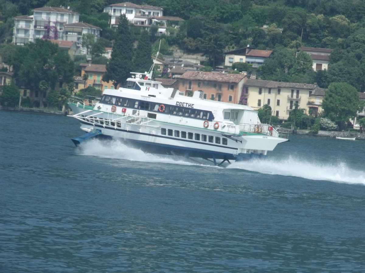Goethe hydrofoil boat on Lake Garda