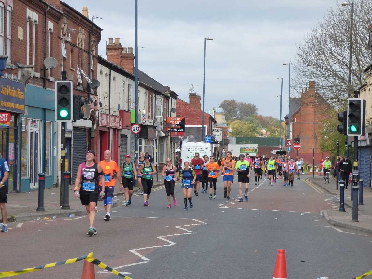 Birmingham International Marathon - Pershore Road, Stirchley