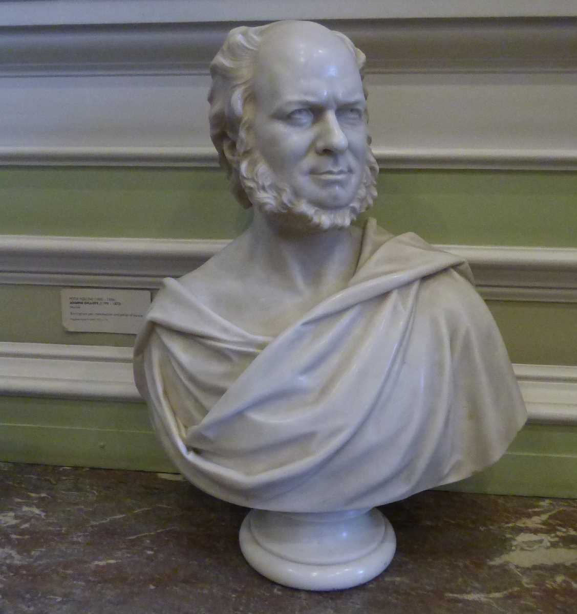 Joseph Gillott marble bust at the Council House