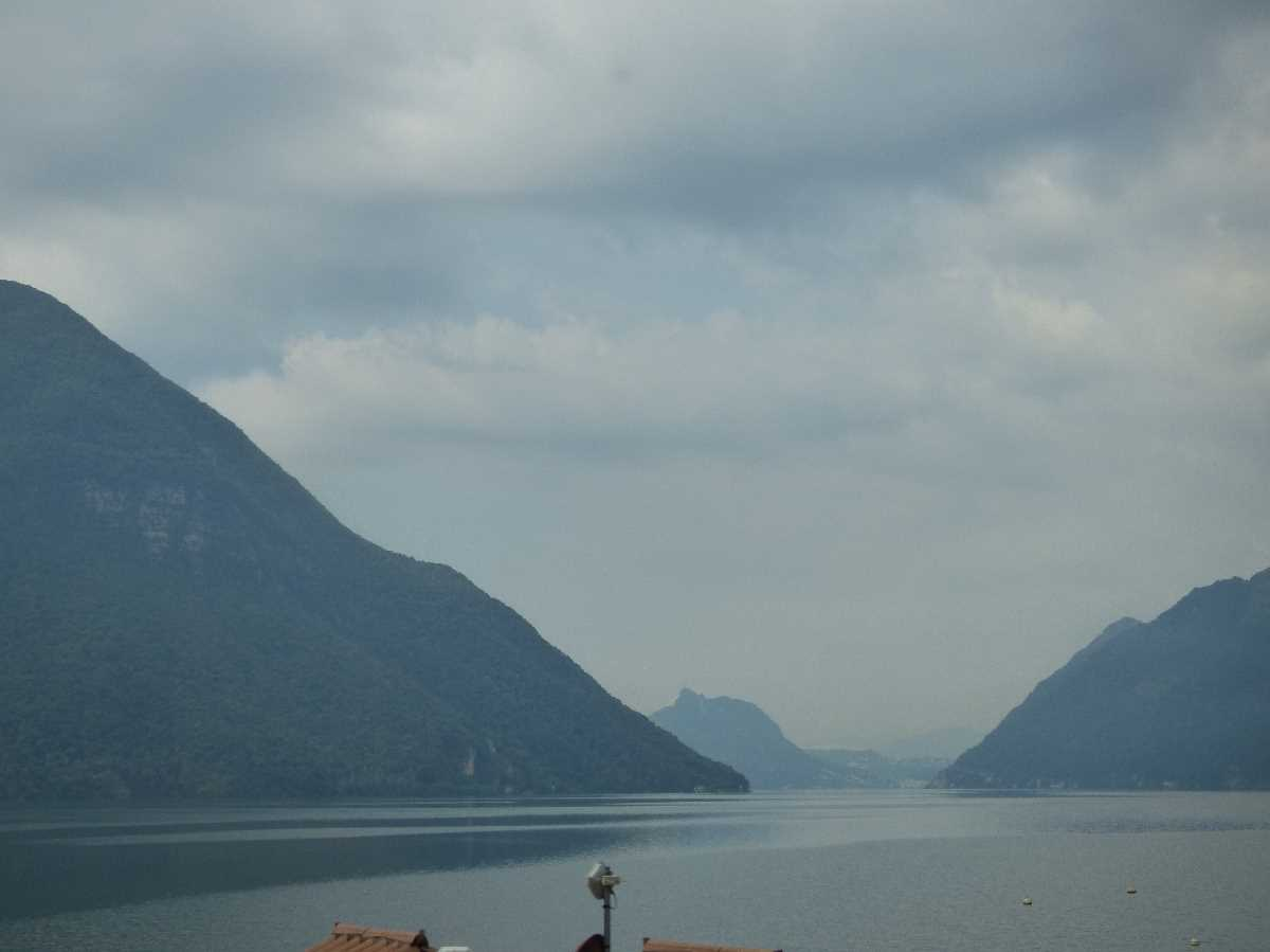 Lake Lugano from the coach