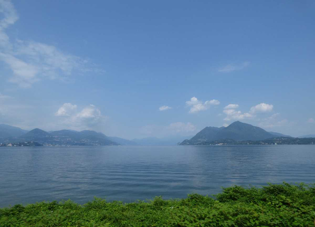 Lake Maggiore from the coach