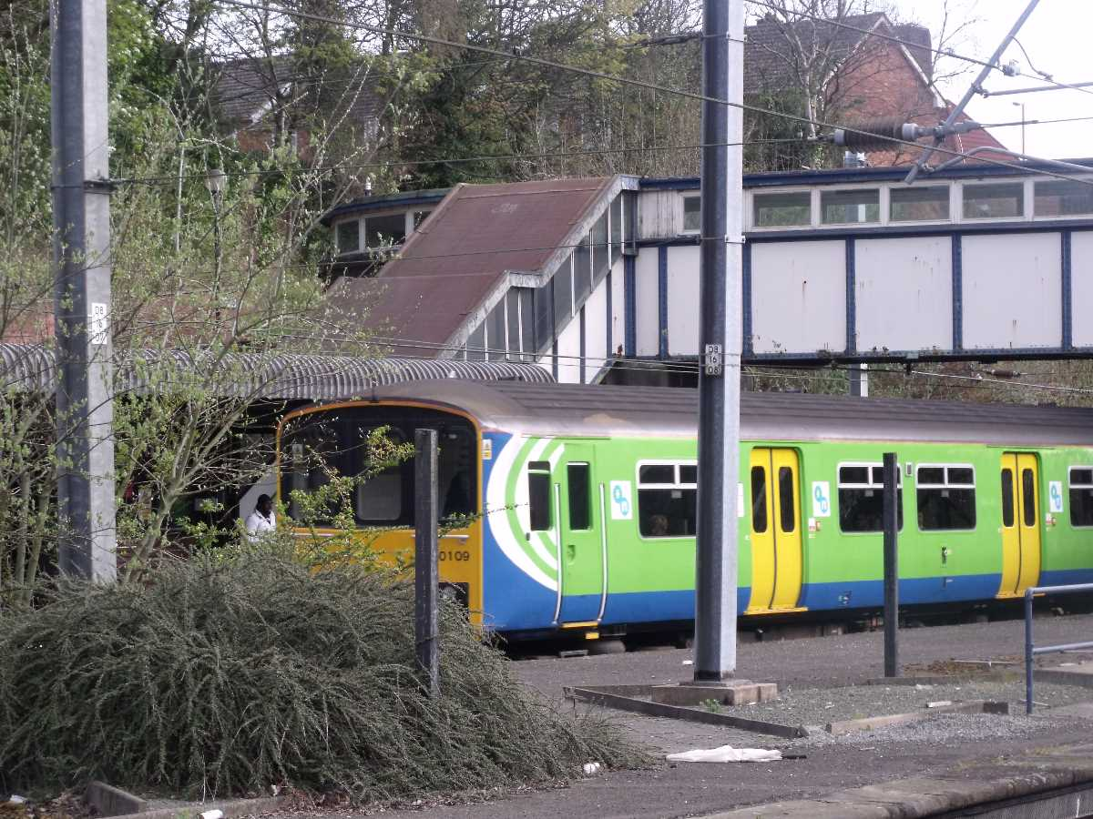 London Midland 150109 seen passing Kings Norton Station