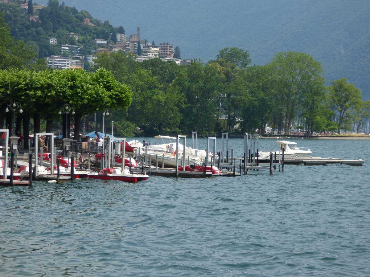 Lake Lugano from Lugano - boats