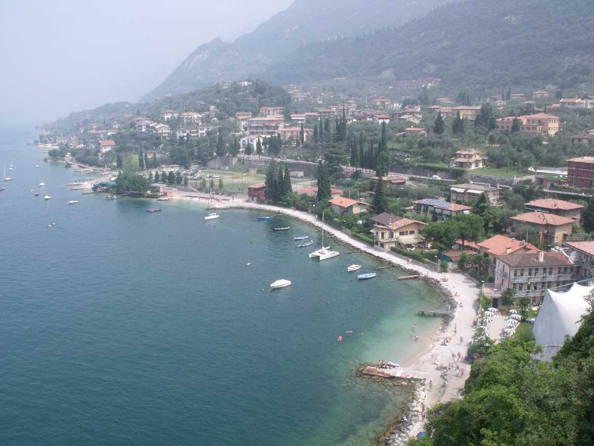 Castello Scaligero di Malcesine view of a beach