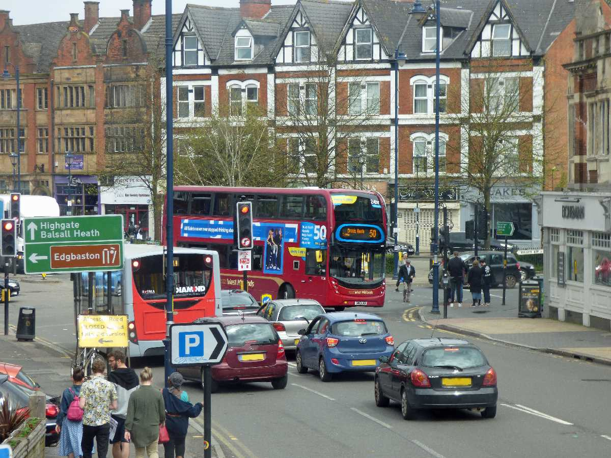 Alcester Road Moseley bus diversion