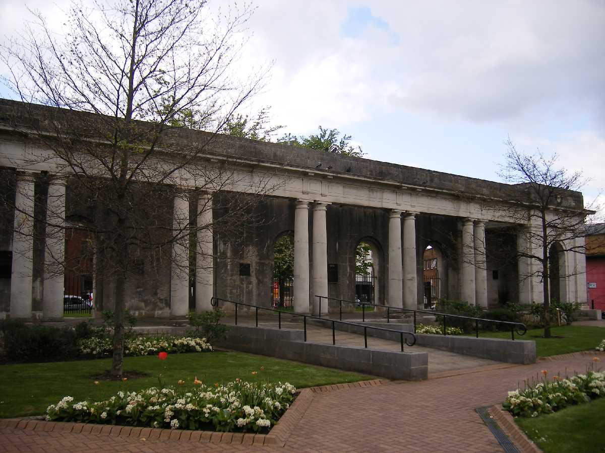 Colonnade at the Peace Garden