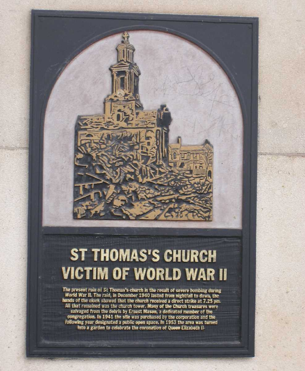 Peace Garden plaque