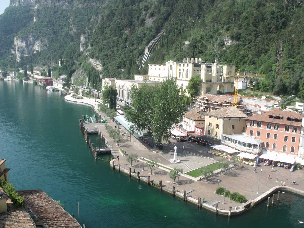 Riva del Garda from the Apponale Tower