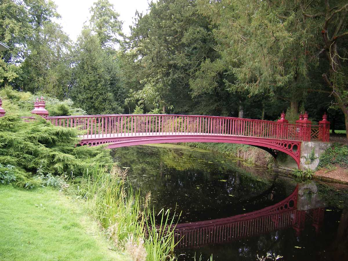 Chinese style bridge at Shugborough Hall