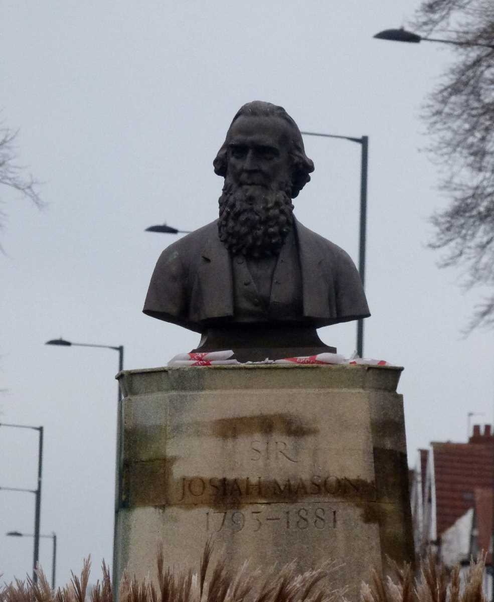 Sir Josiah Mason bust in Erdington