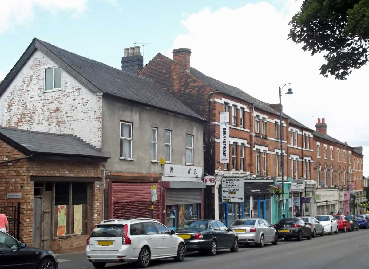 Shops on St Mary's Row, Moseley