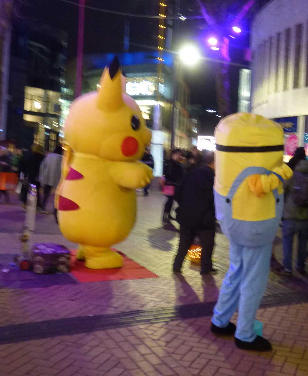 Pikachu and a Minion