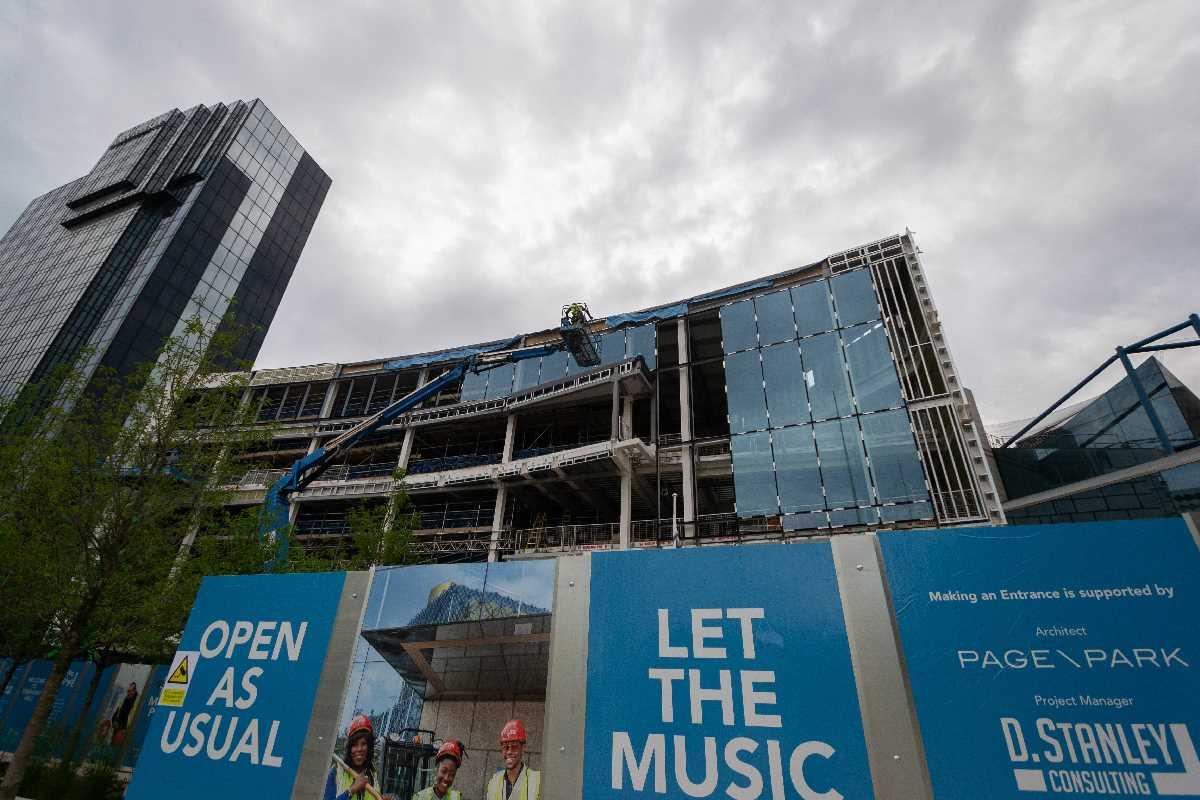 Construction of Symphony Hall - June 2020