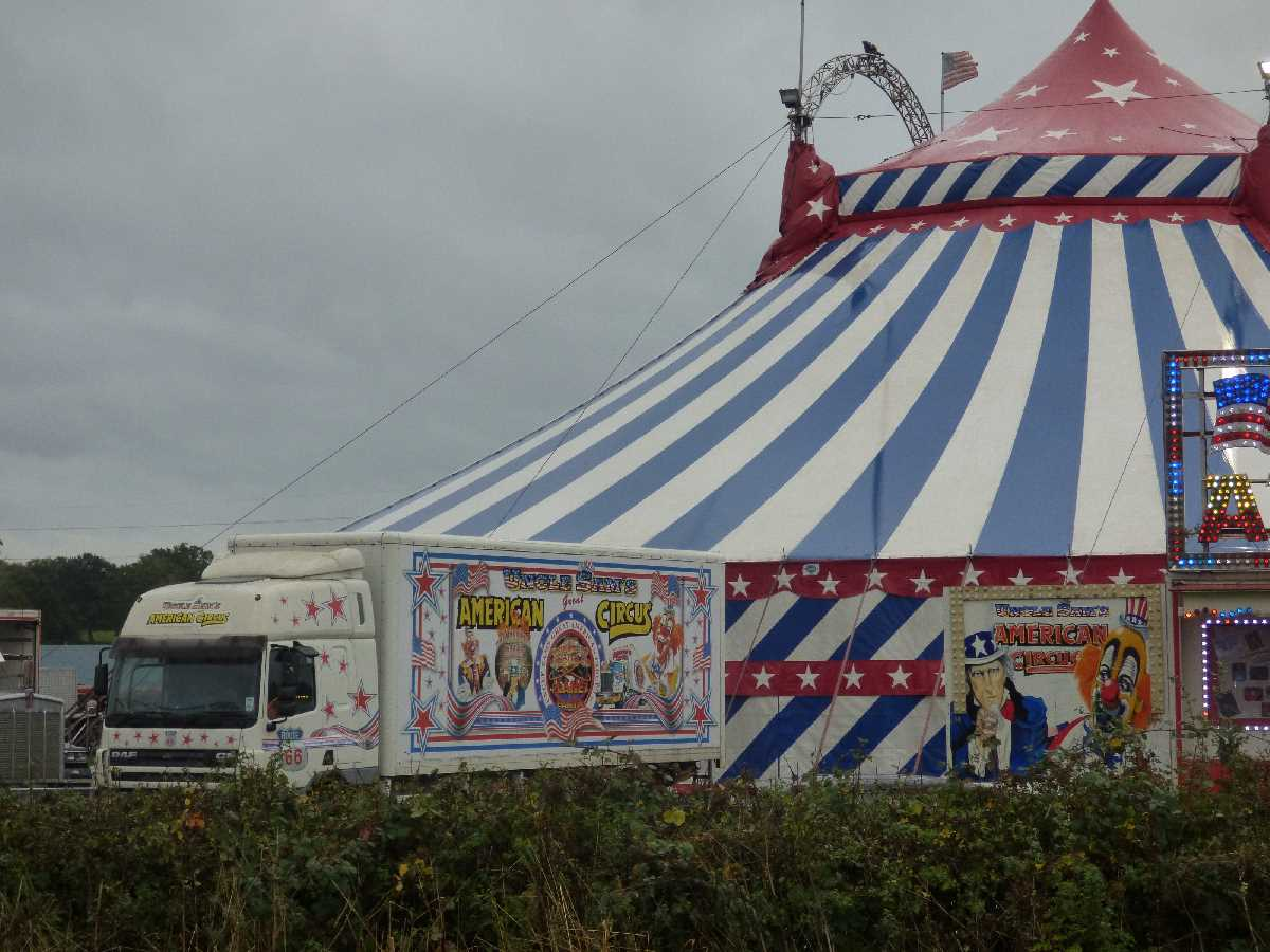 Uncle Sam's American Circus near the Maypole