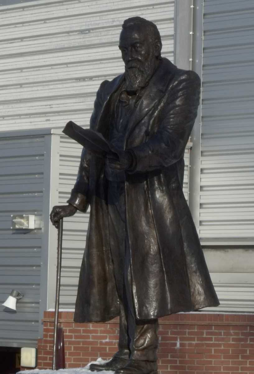 William McGregor statue at Villa Park