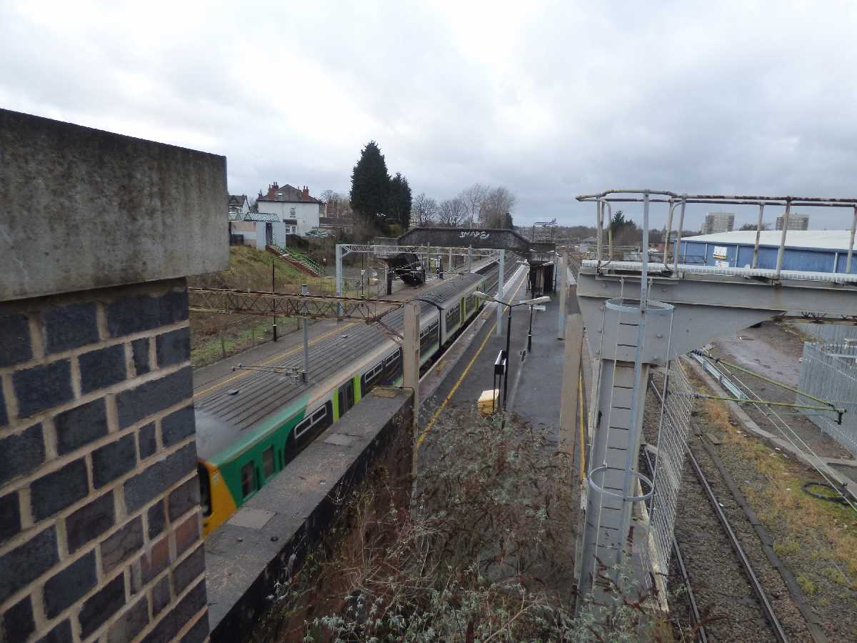 West Midlands Railway Class 150 passing through Stechford Station
