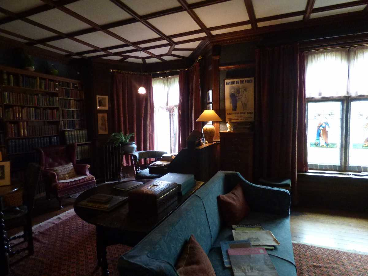 Library at Wightwick Manor