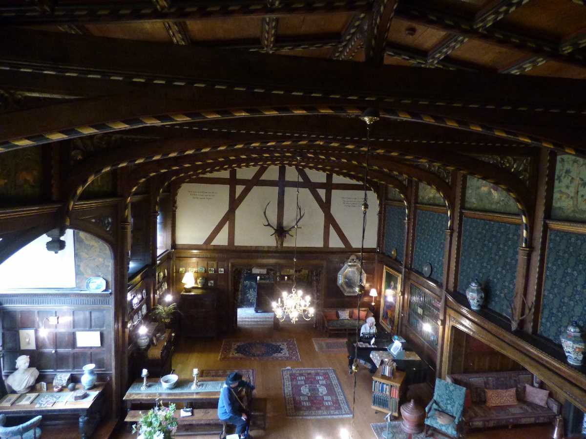 The Great Parlour from the Gallery at Wightwick Manor