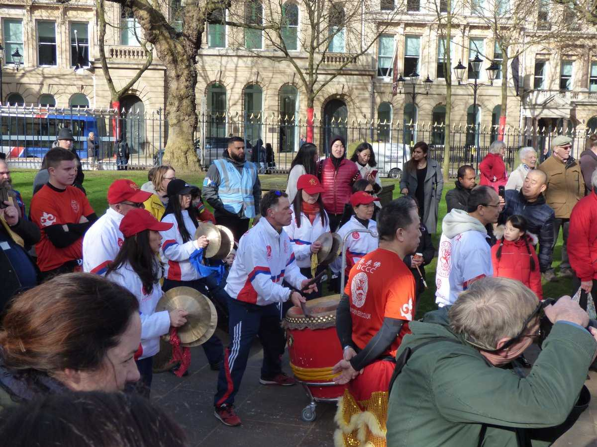 Chinese New Year 2018 drumming St Philip's Cathedral